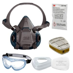3M 6502 QUICK LATCH SILICONE HALF FACE REUSABLE RESPIRATORY PROTECTION KIT Accessories Jumbotron