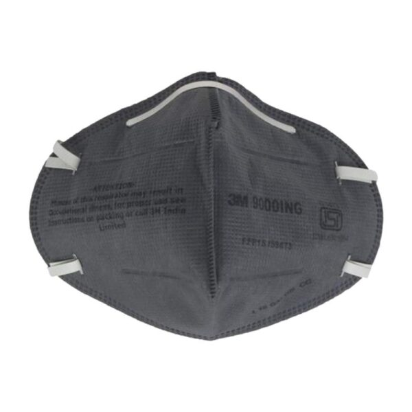3m 9000ing antipollution face mask for bike 2fscooter riding 3M™ 9000ING (Grey) (Pack of 100)
